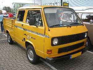 T3 doka in yellowcab taxi kleuren