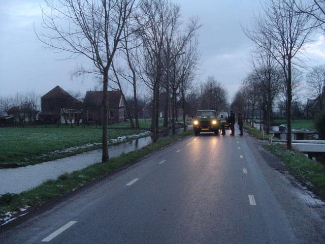 Vroeg in de ochtend beginnen de opnames van de Klene reclame met de VW T3 doka.