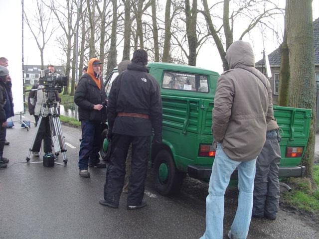 De opnames met de VW T3 doka worden vooraf besproken.