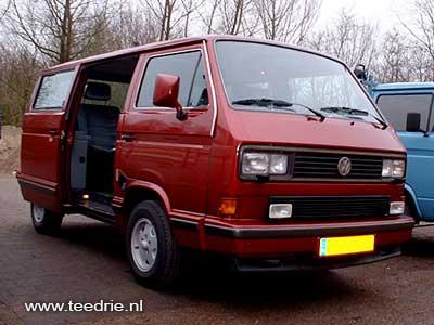 VW T3 Caravelle Carat rode luxe personenbus