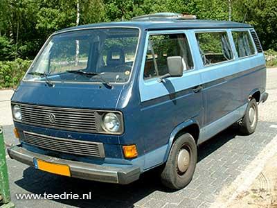 VW T3 Caravelle twotone blauw personenbus