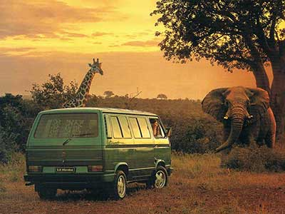 VW T3 microbus uit Zuid Afrika brochure