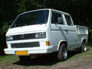 Witte VW T3 dubbelcabine pickup