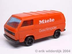 Plastic schaalmodel 1/43 VW T3 Miele