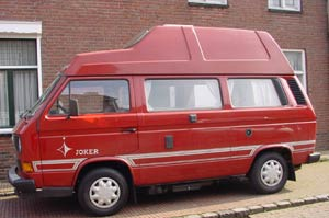 Rode VW T3 Westfalia camper