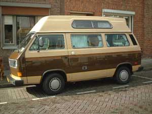 VW T3 camper two-tone bruin beige