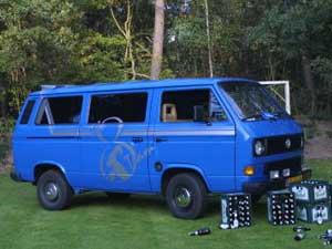 VW T3 personenbus blauw