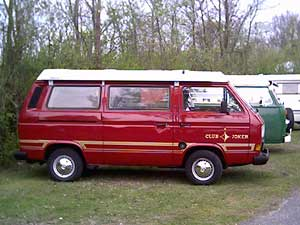 Rode VW T3 Westfalia Club Joker camper