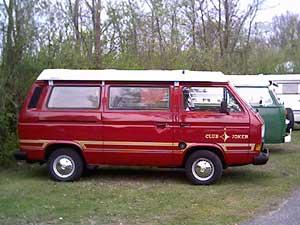 Rode VW T3 Westfalia Club Joker camper