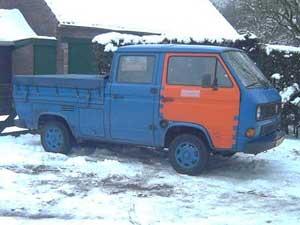 VW T3 doka dubbelcabine pickup