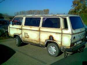 VW T3 met roestige beschildering