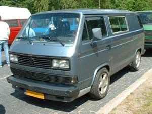 VW T3 bus in Caravelle kleuren grijsblauw
