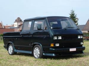 VW T3 dubbelcabine pick-up met spoiler set