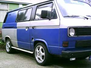 VW T3 bestelbus met dubbele cabine