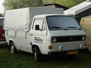 T3 luchtgekoelde enkelcabine pickup met huif