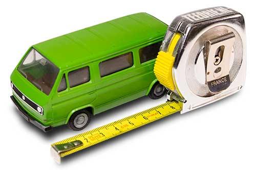 VW T3 afmetingen opnemen met meetlint