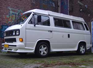 Witte VW T3 camper