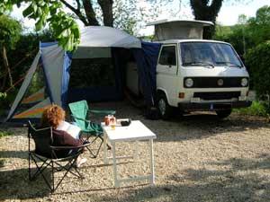 VW T3 camper met bustent