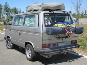 VW vanagon camper met daktent