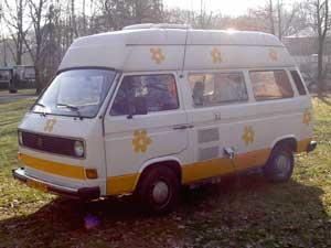 VW T3 luchtgekoelde camper met hoogdak