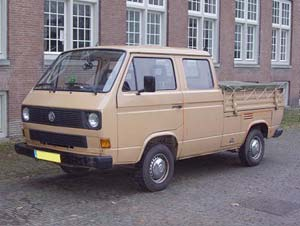 VW T3 dubbelcabine pick-up met vlakzeil
