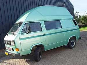 VW T3 hoogdak camper groen metallic