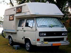 T3 doka camper met opzetunit