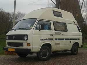 VW T3 la strada camper bij windmolen
