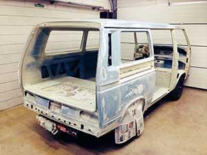 VW T3 combi restauratie project klaar voor de spuiter