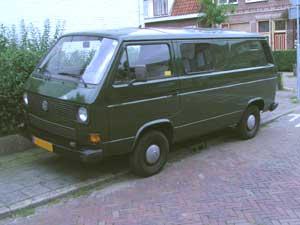 VW T3 gesloten bestelbus met dubbele cabine