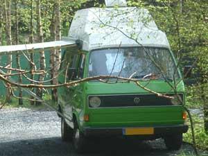 Luchtgekoelde T3 camper met hoogdak