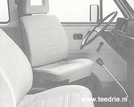 M 693 draaibare bestuurdersstoel in een T3