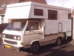 VW T3 enkelcabine pick-up met Tischer camper afzetunit