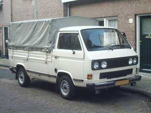 VW T3 enkelcabine pick-up met huif