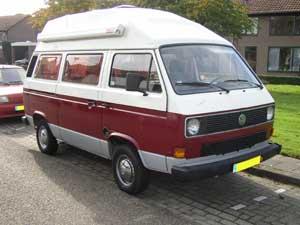 VW T3 camper met hoogdak en luifel