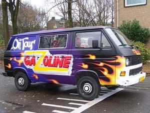 T3 tourbusje van de band Gazoline
