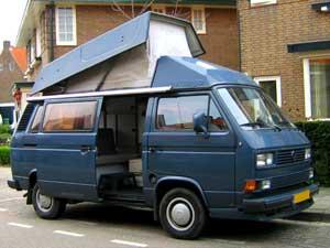T3 camper met hoog hefdak