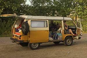 VW T3 Syncro camper met hefdak