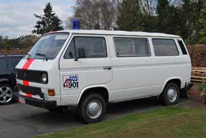 T3 oud politiebus van de Belgische Rijkswacht